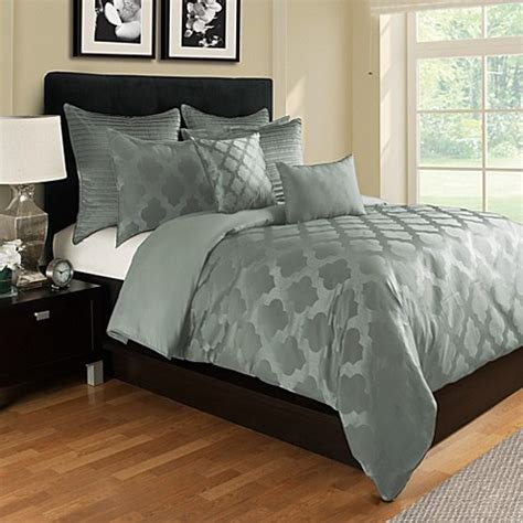 queen bed covers tangiers duvet cover in seafoam bed bath beyond