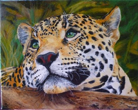 leopard cat painting snow leopard big cat original painting made to order