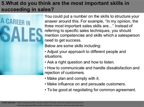top 10 sales assistant questions and answers