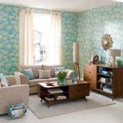 Bold wallpaper living room living rooms decorating ideas image