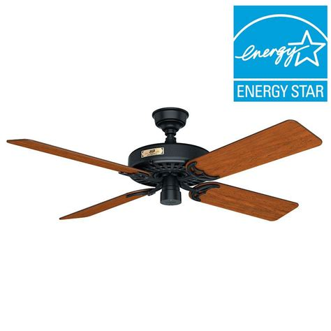 hunter fan discount code hunter original 52 in indoor outdoor black ceiling fan
