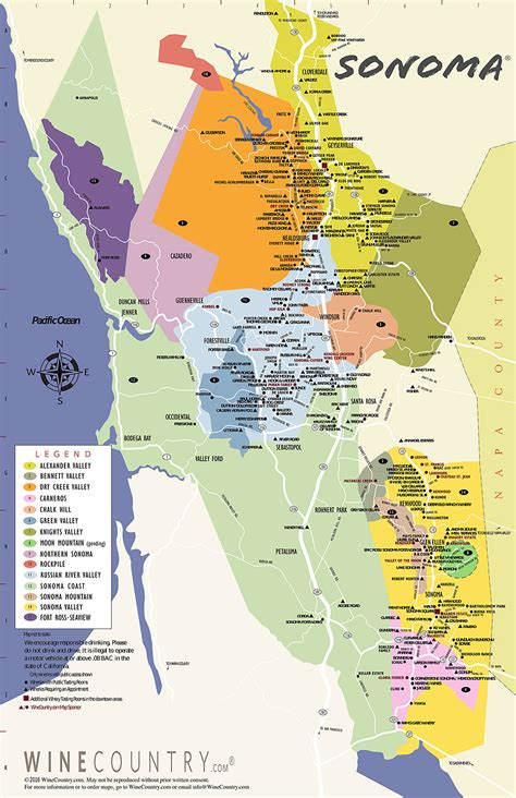 sonoma winery map sonoma county wine country maps sonoma