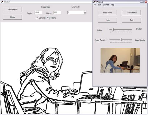 Convert Photo To Line Drawing