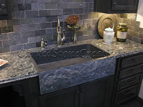 Kitchen Countertops And Sinks This Charcoal Grey Granite Sink Has A Rockface Apron And A Polished Basin And Looks Fantastic