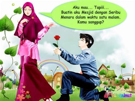 kumpulan gambar kartun romantis islami wallpaper cinta