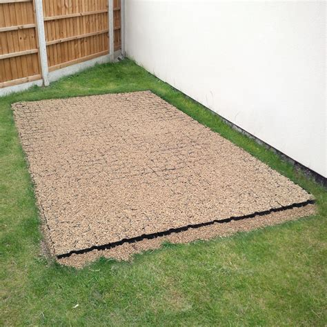 Shed With Base by Shed Base Kit Fabric 330mm Truepave Grids