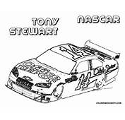 Transmissionpress Car Coloring Pages Of NASCAR Tony