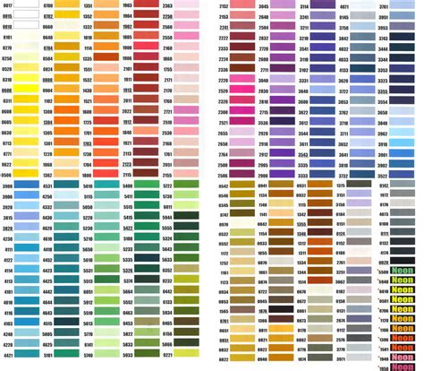 embroidex color chart embroidex embroidery thread color