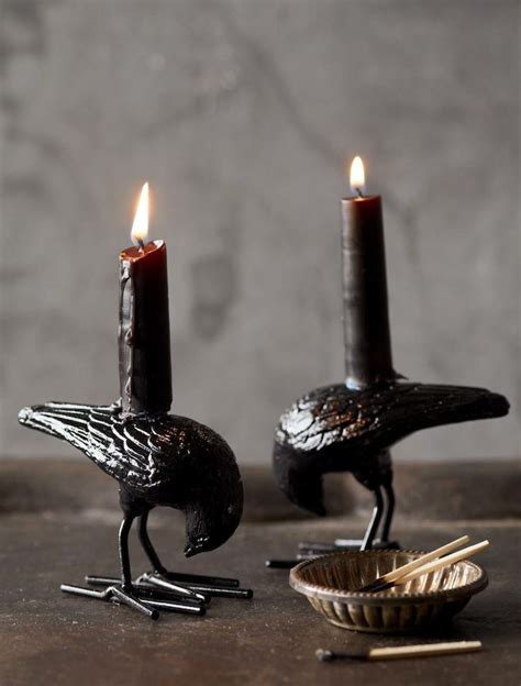 Black Candles 15 Creepy Candle Holder Ideas For A Scary
