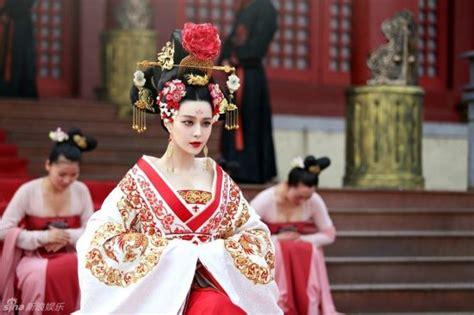 chinese film empress stills of tv drama quot empress wu zetian quot released