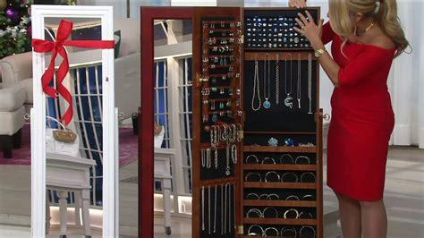 qvc mirrored jewelry cabinet lori greiner safekeeper mirrored jewelry cabinet