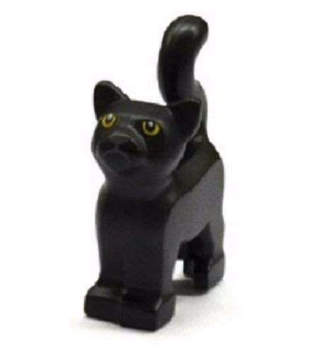 black standing l lego black cat minifigure standing pet