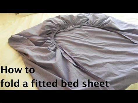 how to fold a bed sheet how to fold a fitted bed sheet youtube