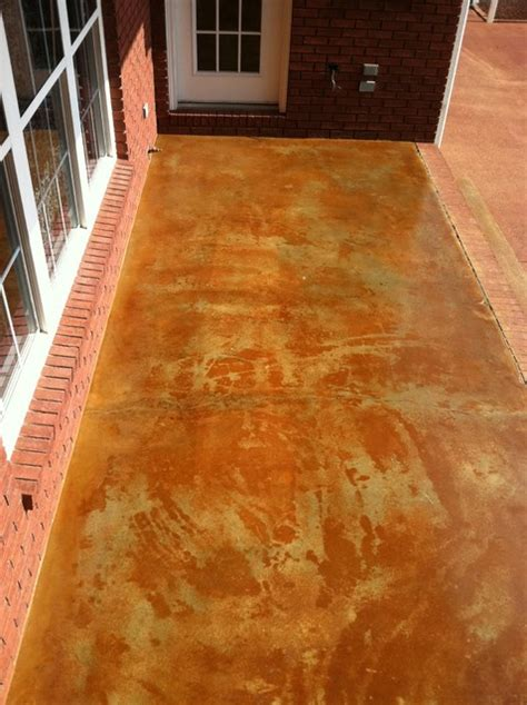 Sted Concrete Countertops by Acid Staining Concrete Countertops