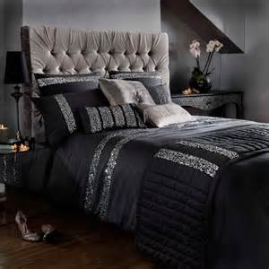 Super King Size Duvet Cover Dimensions Kylie Minogue Bedding Safia Black Faux Silk Satin