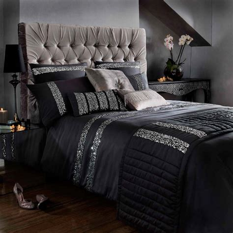 coverlet or duvet kylie minogue bedding safia black faux silk satin