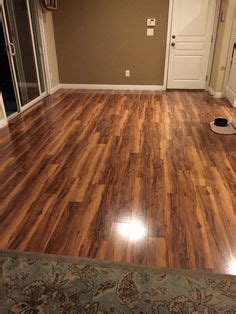 New floor is in. Pergo Max. River Road Oak. Lowe's.   My
