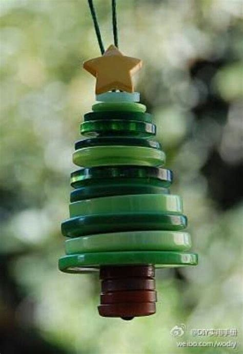 button tree ornament christmas pinterest