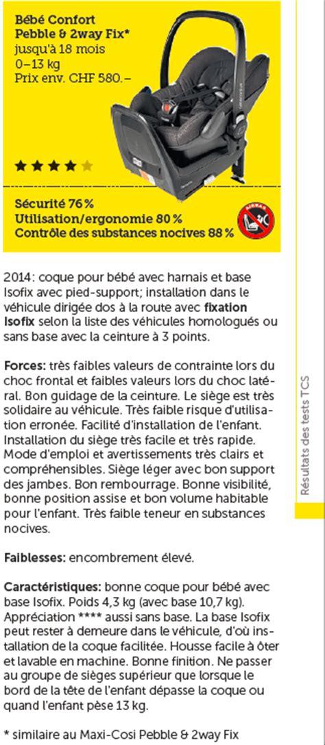 siege auto crash test 2014 maxi cosi pebble b 233 b 233 confort test si 232 ge auto