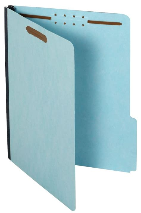 Letter Expansion Pressboard Expanding File Folder With Fasteners Letter Size 1 Quot Expansion Blue