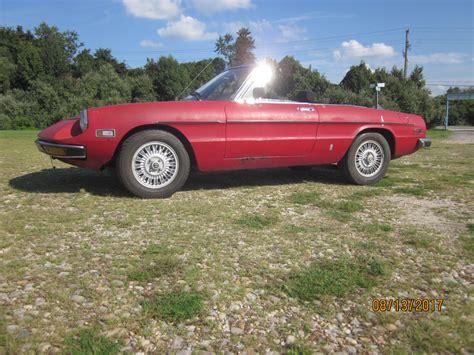 Alfa Romeo Spider Wheels by 1971 Alfa Romeo Spider With Thin Blade Turbina Wheels For Sale