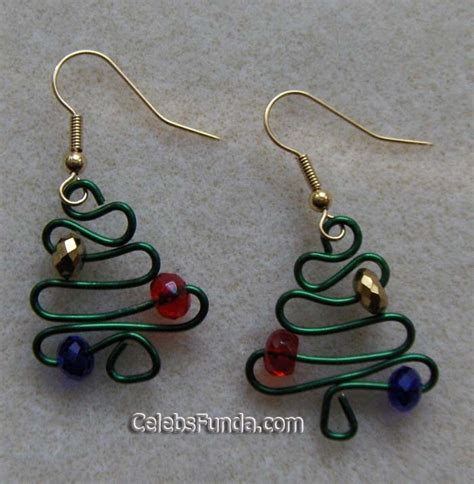 christmas tree earrings wire jewelry idea pinterest