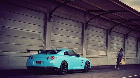Car Wallpaper Hq 3d Cyan by Hd Cars Nissan Vehicles Spoiler Gtr Automobiles Gt R35