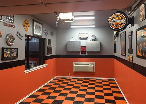 harley davidson garage flooring  images garage