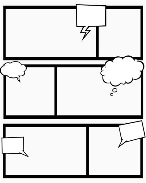Comic Strips Template comic blank template slp ideas