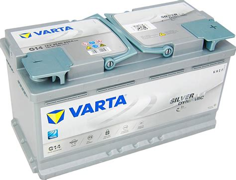 werkstattzubehör autobatterie varta g14 silver dynamic agm 12v 95ah 850a