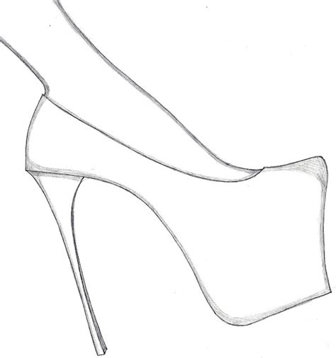 draw templates design your shoes with these free high heel