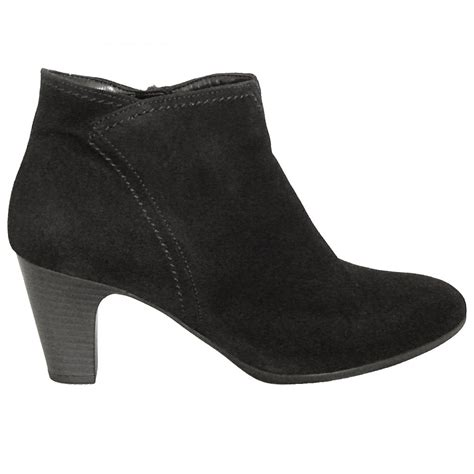 gabor boots jangle dressy boot in black suede mozimo