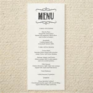 diy wedding menu template diy wedding menu handlettered rustic by