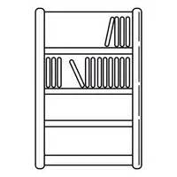 black and white bookcase bookcase clipart black and white pencil and in color