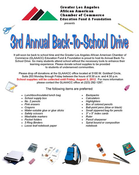 Fundraising Drive Letter Request For Donations In Back To School Drive