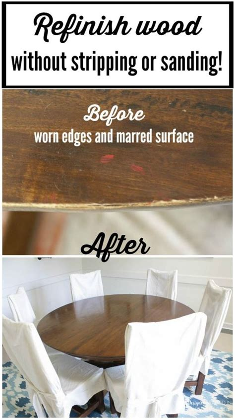 how to refinish a table how to refinish a table without sanding or stripping