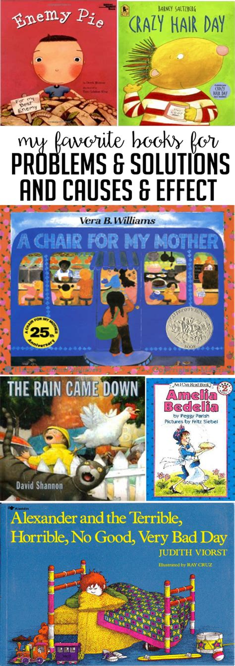 problem solution picture books read alouds for problem and solution cause and effect
