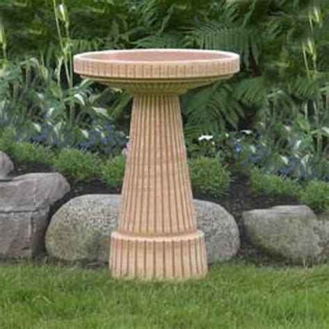 burley clay loam brown universal ceramic bird bath