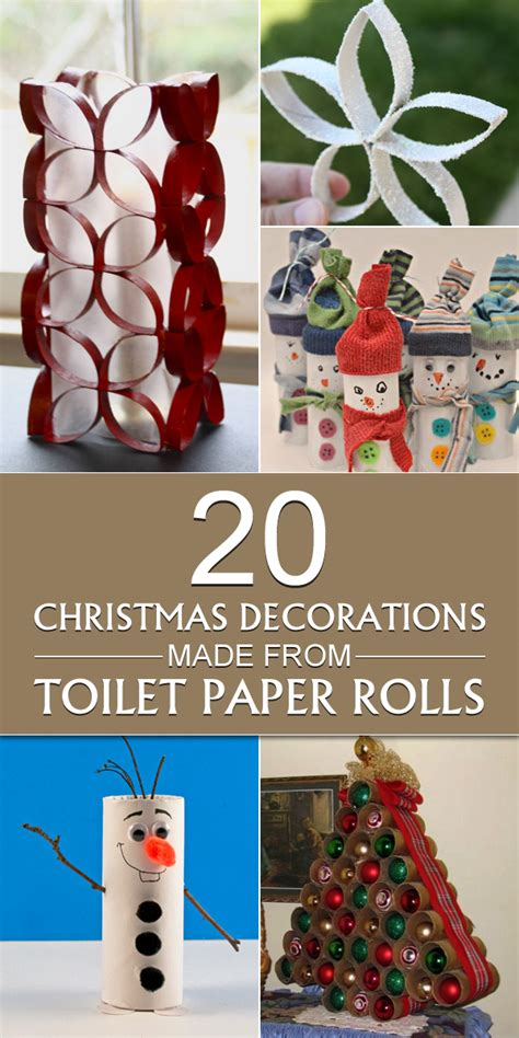 20 decorations made from toilet paper rolls