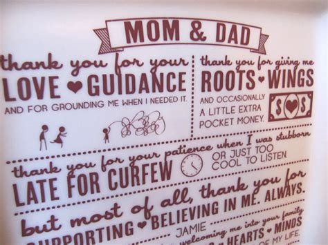 thank you letter to parents from and groom parent wedding giftthank you platter from and groom