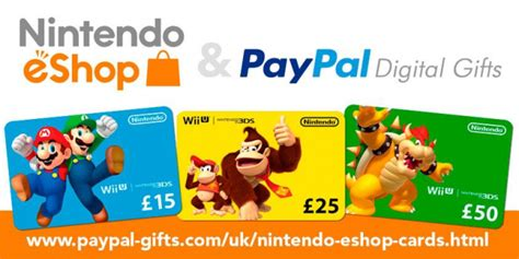 Eshop Gift Card - you can now buy and gift nintendo eshop cards with paypal in europe germany too