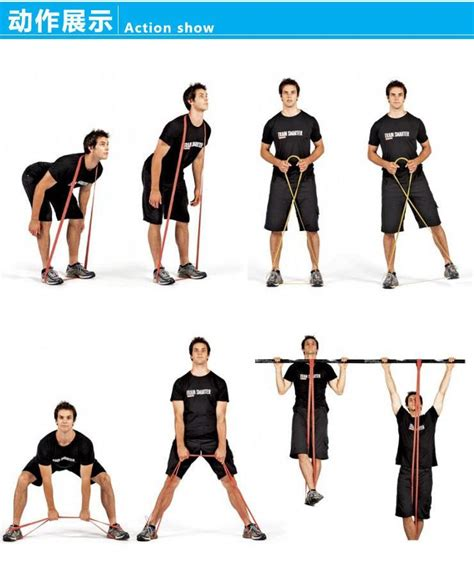 Pull Up Resistance Band Fitness set of 5 pull up band crossfit resistance bands fitness powerlifting leg elastic