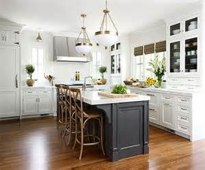 White Kitchen Black Island by White Kitchen Cabinets With Gray Kitchen Island