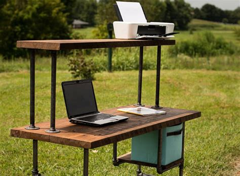Reclaimed Computer Desk Items Similar To Reclaimed Wood Desk Computer Desk Home Office Desk Barn Wood Desk Shabby