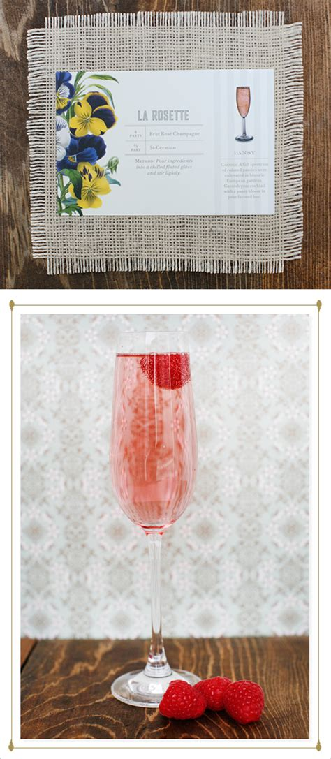 signature wedding drink ideas by st germain