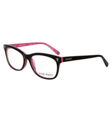Pink And Black Glasses nine west womens black and pink glasses opticians