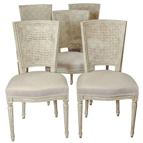 set of eight antique restored louis xiv dining chairs at