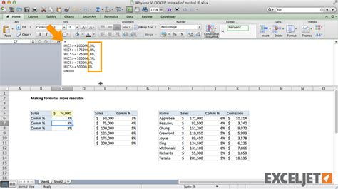 tutorial vlookup beda file excel tutorial why vlookup is better than nested ifs