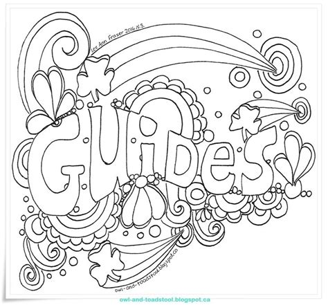 doodle crafting guide owl toadstool doodle guides guides