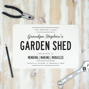Garden Shed Signs Personalised by Garden Shed Signs Personalised